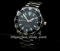 band beams - Super Clone Luxury Brand Professional m Diver Black Dial Super Beaming James Bond Automatic Mens Watch Silver Band Watches