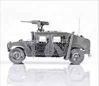 Wholesale P036S Hummer jeep scale models Kids Educational Toys DIY D Jigsaw Puzzle Metallic Nano Puzzle D Metal Model armas
