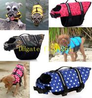 Wholesale 50pcs Pet Dog Life Jacket Safety Clothes Life Vest Saver Dog Swimming Preserver Dog Clothes Summer Swimwear