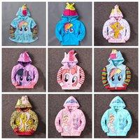 Wholesale My little pony girl children zipper hooded Outwear Coat Girls Hoodies Sweatshirts kids Baby long sleeve hoody Jackets clothing hoodies