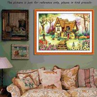 Cheap DIY Handmade Needlework Chinese Counted Cross Stitch Embroidery Kit Precise Printed Country Cottage Pattern Cross-Stitch