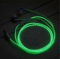 Wholesale HOT Glow In The Dark Headphones Luminous Neon Headset Flash Light Earphone Glowing Earbuds With Microphone Night Lighting