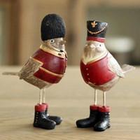 antique bird figurines - AIBEI British the royal Style Robin Bird SET Resin Figurine Antique Imitation Home Decoration Wedding Gifts Crafts