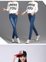 Wholesale Big boy girls jeans pants spring section new Korean version of the all match pants children stretch pants