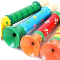 Wholesale Orff instruments trumpet colorful wooden color WM111 early childhood educational toys music perception