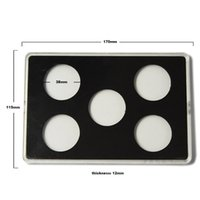 acrylic coin display - Acrylic Cases For Coin Collection Challenge Coin Display Holder Stand Coin Transparent Box Packaging for Coins MM Diameter
