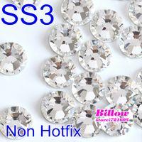 Wholesale bag Nail Rhinestone SS3 Crystal Color FlatBack Non Hot Fix Rhinestones For Nail Art Decoration DIY B2025