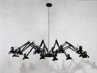 bedroom celing lamp - Led Modern Chandelier Celing Spider Pendant Lamp AC85 V E27 Living Room Chandelier Light With Arms Remote
