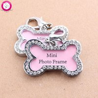 Wholesale Bone Shaped Pet Tag Set Lost Dog Id Address Name Label Tag Stainless Dog Puppy Pendant