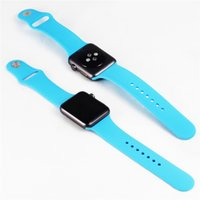 adapter watch batteries - Hot sale Original Design Silicone Band With Connector Adapter Clip For Apple Watch Silicon Strap For iPhone iWatch Sport Buckle Bracelet