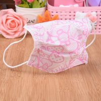 Wholesale Kawaii CM Pink Disposable Sanitary Hello Kitty Mouth Mask Girl s FACE Mouth Gauze Mask Healthy Mask piese