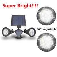 adjustable led spotlight - Super Bright RGB Solar Led Spotlight Solar Powered LED Spot Light Waterproof Solar Lamp Light Update Version Angle Adjustable
