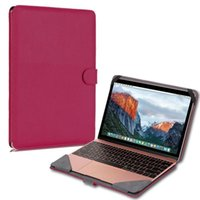 Wholesale Best Deal Product Easy to Install Ultra Slim Litchi Stria Leather Case Cover For Macbook laptop inch Optional bolsas feminina