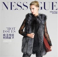 Wholesale New Imitation Mink Winter Fur Coat Fashion Medium Long O Neck Slim Gray Faux Fur Coat For Women Outerwear hight quality