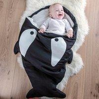 Wholesale Shark Sleeping Bag Newborns Sleeping Bag Winter Strollers Bed Swaddle Blanket Wrap Cute Bedding Baby Sleeping Bag LC377