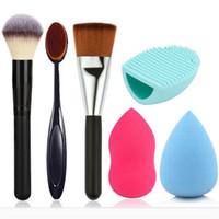 Wholesale TFS Makeup set Black wood powder brush makeup toothbrush cosmetic brush water gourd washing powder puff egg puff
