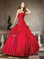 amazing delivery - Amazing Hot Sell Strapless Sweetheart Sheath Rust Red Quinceanera Dresses Red Taffeta Sweet Collection Online NYC Fast Delivery