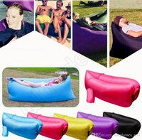 Wholesale Portable Air Sofa Sleeping Bag Outdoor Inflatable Sleep Sofa Couch Lazy Hangout Bed For Camping Travel QQA408