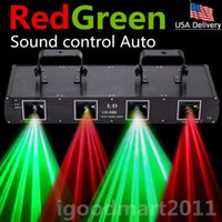 Wholesale USA WTD L D55 Sound Control Auto lens Stage Laser Light DMX Red Green Club DJ Disco Party Show Lighting mW