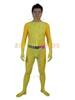 TV & Movie Costumes alex performance - Totally Spies Alex Yellow Spandex Superhero zentai suit stage performance cosplay costume