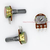 Wholesale M B1M OHM WH148 B1M MM Single Rotary Potentiometer Linear Taper Pots Shaft mm With Nuts and Shim