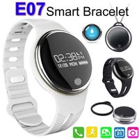 Wholesale E07 Waterproof Smart Wristband Passometer Fitness Tracker Bluetooth Sports Bracelet For Iphone Android Phone PK Fitbit Smartband