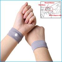 Wholesale 2Pcs Anti Nausea Wristbands Car Anti Nausea Sickness Reusable Motion Sea Sick Travel Wrist Bands