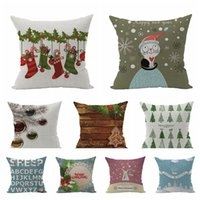 Wholesale Natural and pure and fresh Christmas series super soft cotton and linen pillow four seasons in selling