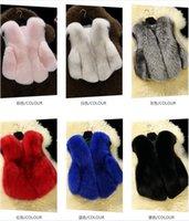 Wholesale Baby Fur Vest New Da Rabbit Fur Fashion Girl fox fur coat Imitation Hot Children vest Children vest Jacke Winter Faux Fur Coat