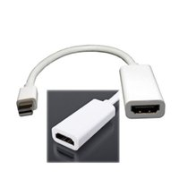 air pro dropshipping - by DHL or EMS pieces Mini DisplayPort DP To HDMI Adapter Audio Cable For MacBook Pro Air DropShipping