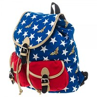 Wholesale Wonder Woman Stars Knapsack Backpack