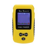 Wholesale Portable LCD Display Wireless Fish Finder Fishing Depth Sonar Sensor Fish Finder Alarm Transducer Color Fishing Lure Tool