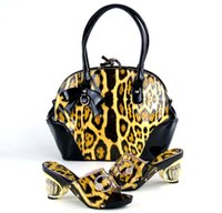 bag sewing patterns - New Italian Design Women Shoes And Handbag Set Fashion Leopard Pattern Sheetmetal Shoes And Causal Bag Set BW