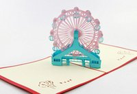Wholesale Ferry Wheel pop up card d card birthday card Greeting card