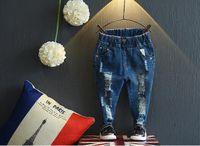 Wholesale YMT Fashion Girls Jeans Blue Demin Full Pans Ripped Korean Style Pockets Casual Brand Cozy Pans Sport Streetwear