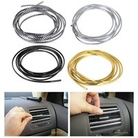 air conditioner types - 4 colors M Volume DIY Car Interior Air Conditioner Outlet Vent Grille Chrome Decoration styling Strip Car styling
