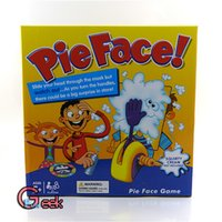 Wholesale In business Korea Running Man Pie Face Game Pie Face Cream On Her Face Hit The Send Machine Paternity Toy Rocket Catapult Game