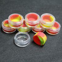 acrylic bpa free - 5ml bpa free plastic jars acrylic jar silicone inside dab wax butane hash oil plastic jars with silicone liner