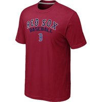active practice - Cheap Cotton Boston Red Sox Baseball T Shirt Short Sleeve O Neck Home Practice T shirt Red Sox Shirt Color