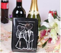 Wholesale Wine Bottle opener Heart Shaped Great Combination Corkscrew and Stopper Heart Shaped Sets Wedding Favors Gift sets DHL FEDEX FREE