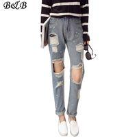 american apparel harem pant - Autumn amp Winter Harem Jeans Sexy Womens Ripped Jeans Slim Modish Denim Pants Skinny American Apparel Jeans Autumn ZB033