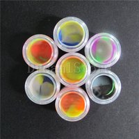 acrylic gel - New ml Round Silicone Containers With Clear Acrylic Shield Conta Nonstick For Oil Wax Dabs Slick Jars Free Hookah Gel Holder