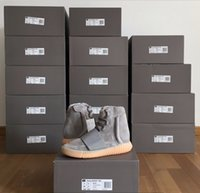 "Cheap Adidas Originals Yeezy 750 Boost Glow Dark Kanye West BB1840 ""Glow In The Dark"" Light Grey Light Grey Gum Men Women Trainers Shoes With Box"