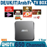 Wholesale Cheapest Android Tv Box M8S For Smart Tv k Tv Include Year Qhdtv Iptv Account Arabic Sport Canal No Youtube Youporn Iptv