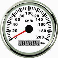 Wholesale 85mm White GPS speedometer km h PMG3 WS L