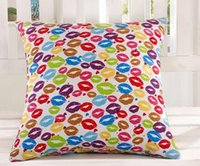 Wholesale L14Low price excellent inexpensive cartoon painting pillow cushion for leaning on of contracted household