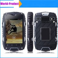 Z6 IP68 teléfono celular impermeable MTK6572 Dual core 8MP 4 pulgadas 4GB Rom 512 RAM GPS 3G impermeable a prueba de polvo a prueba de choque teléfono al aire libre