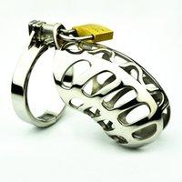 Cheap 1 pieces Free shipping 2016 Latest Design Super Small Male Stainless Steel Cock Penis Cage Chastity Belt Device Cock ring BDSM Sex toys