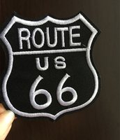 Wholesale US ROUTE Embroidered Robe Motorcycle Biker Vest Iron On Patch rock retro applique dropship