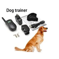 Wholesale for dog rechargeable do training with LCD REMOTE CONTROL LV static Vibra Remote Electric Dog Training Collar